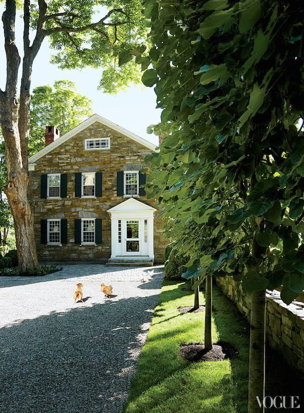 Architect-owner Daniel Romualdez and landscape designer Miranda Brooks. Connecticut. Vogue