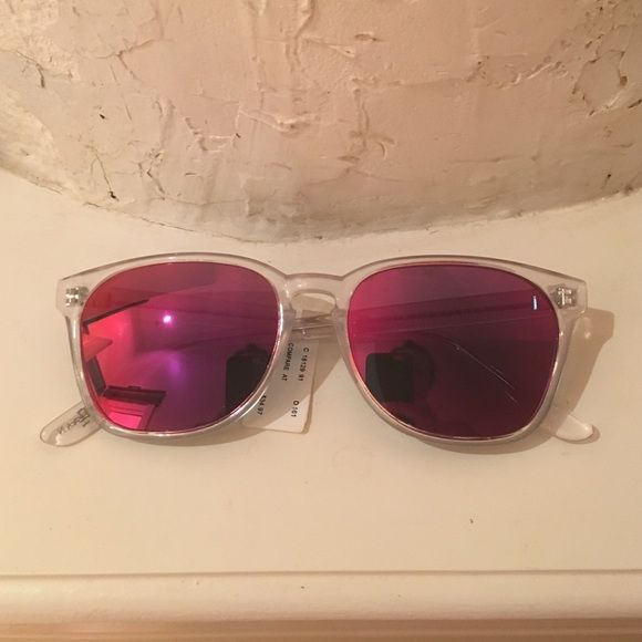 df4b54ddfe Cole Haan Polarized Sunglasses Cole Haan clear frame pink purple polarized  lenses. Super fun for Summer! New with tags never worn!
