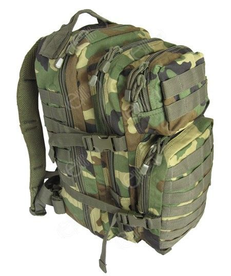 Woodland Camo MOLLE Assault Pack - Regular size  866af5294cf6