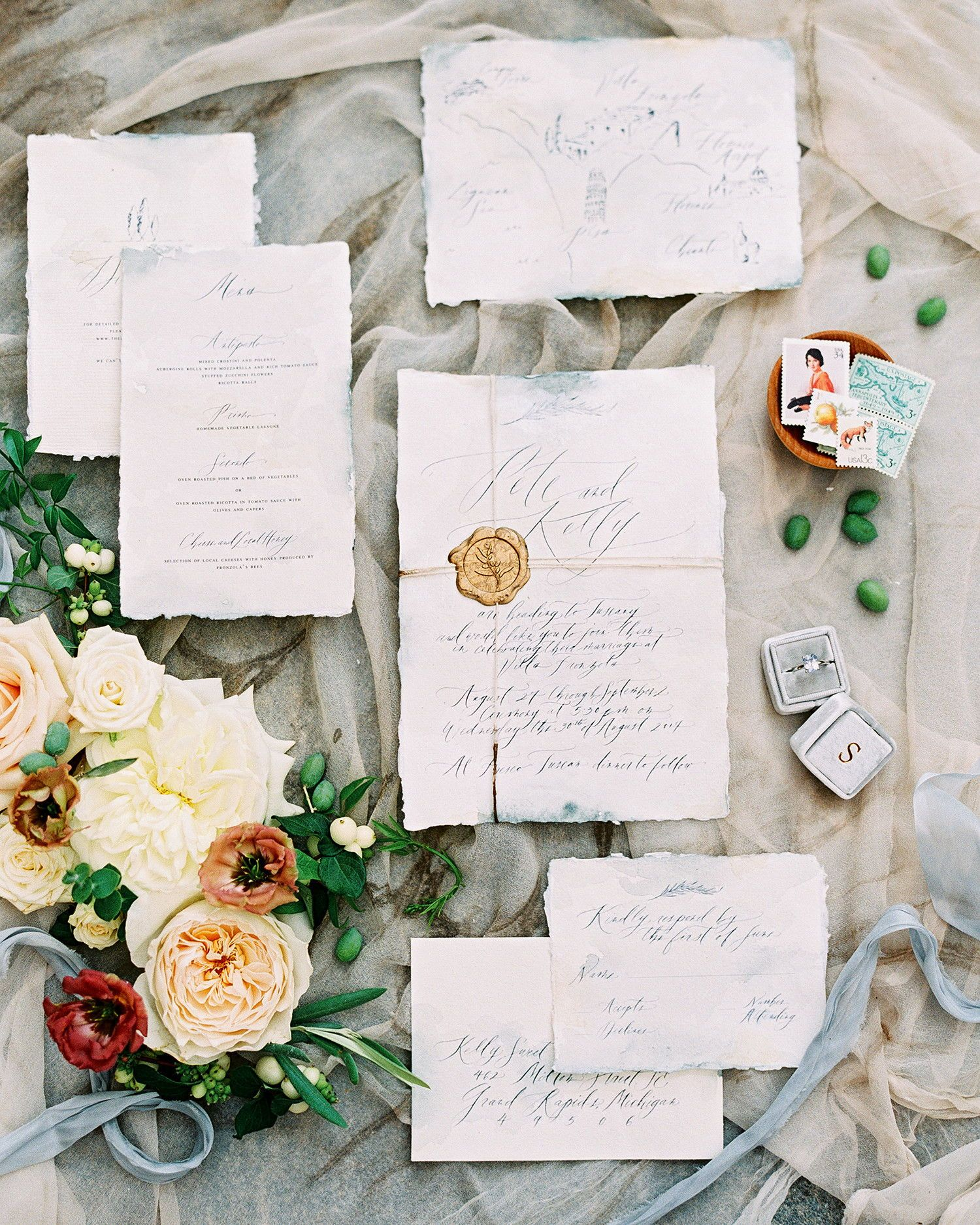 Intimate Wedding Invitation Wording: This Intimate Destination Wedding In Tuscany Had Just 16