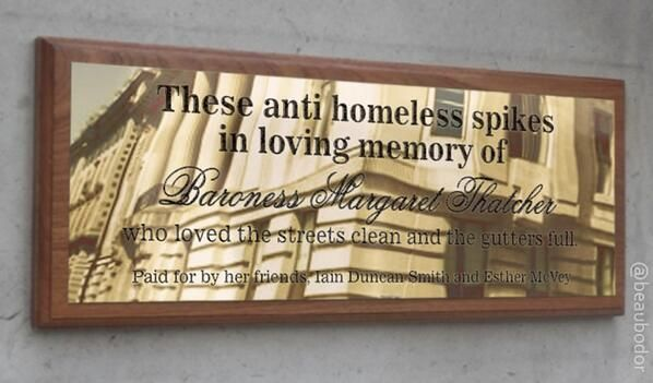 Homeless Spikes In London Spark Twitterstorm Spike Homeless In Loving Memory