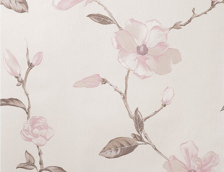 Tapete vlies blume rosa beige beautiful wallpaper for Tedox tapeten