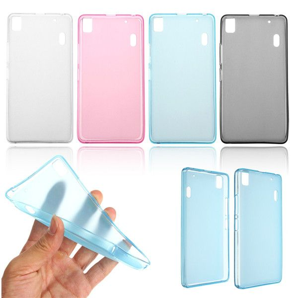 save off ce18a 7af9b TPU Soft Jelly Clear Transparent Case Cover For Lenovo K3 NOTE A7000 ...