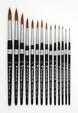 Trekell Kolinsky Round Brushes Art Supplies Drawing
