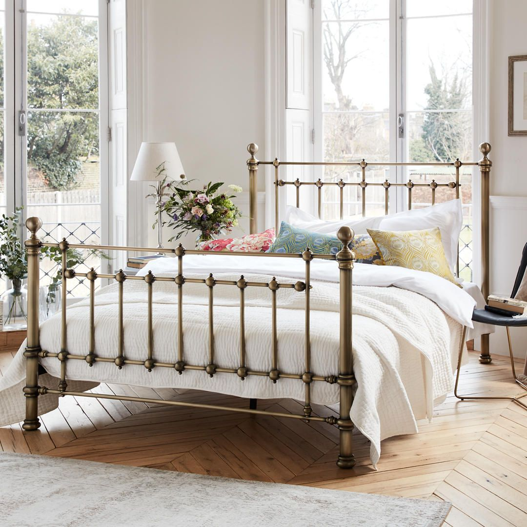 John Lewis Partners Banbury Bed Frame Double Antique Brass