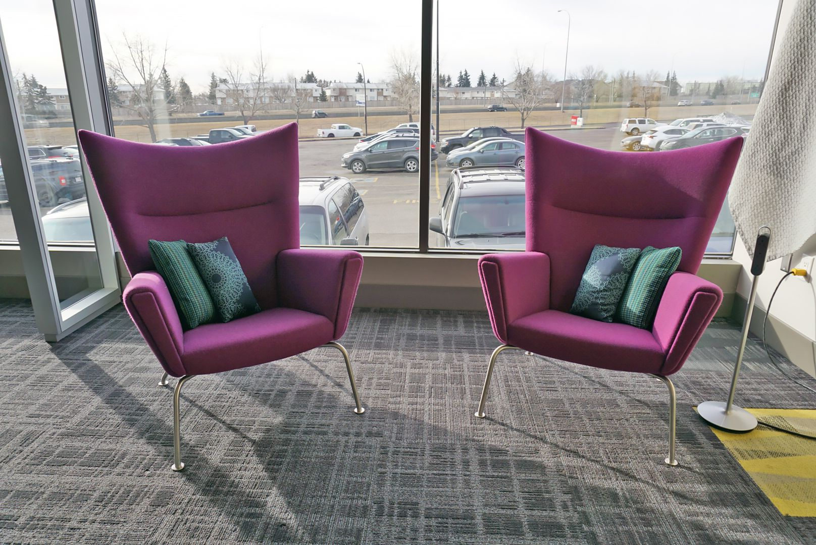 contemporary office spaces. Coalesse Wing Chairs Powered By Steelcase Thread Contemporary Office Spaces E