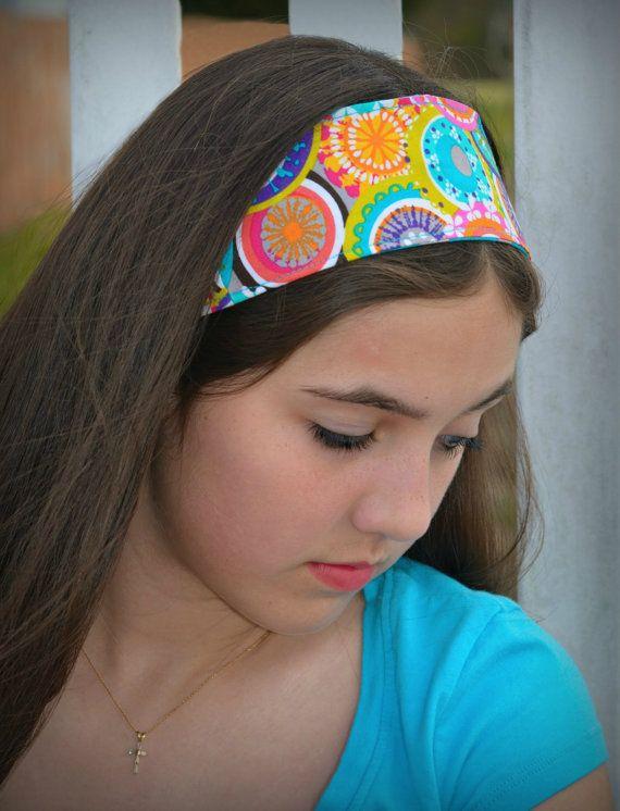 Colorful Headband Reversible Multicolor Headband Dolly Bow Wire Headband Polka Dot Headband Summer Headband Tween Headband Teen Headband
