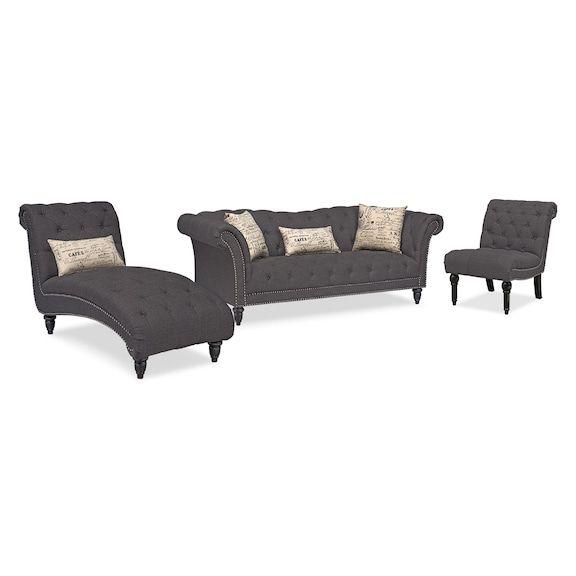 Amazing Marisol Sofa Chaise And Armless Chair Samantha Chaise Cjindustries Chair Design For Home Cjindustriesco