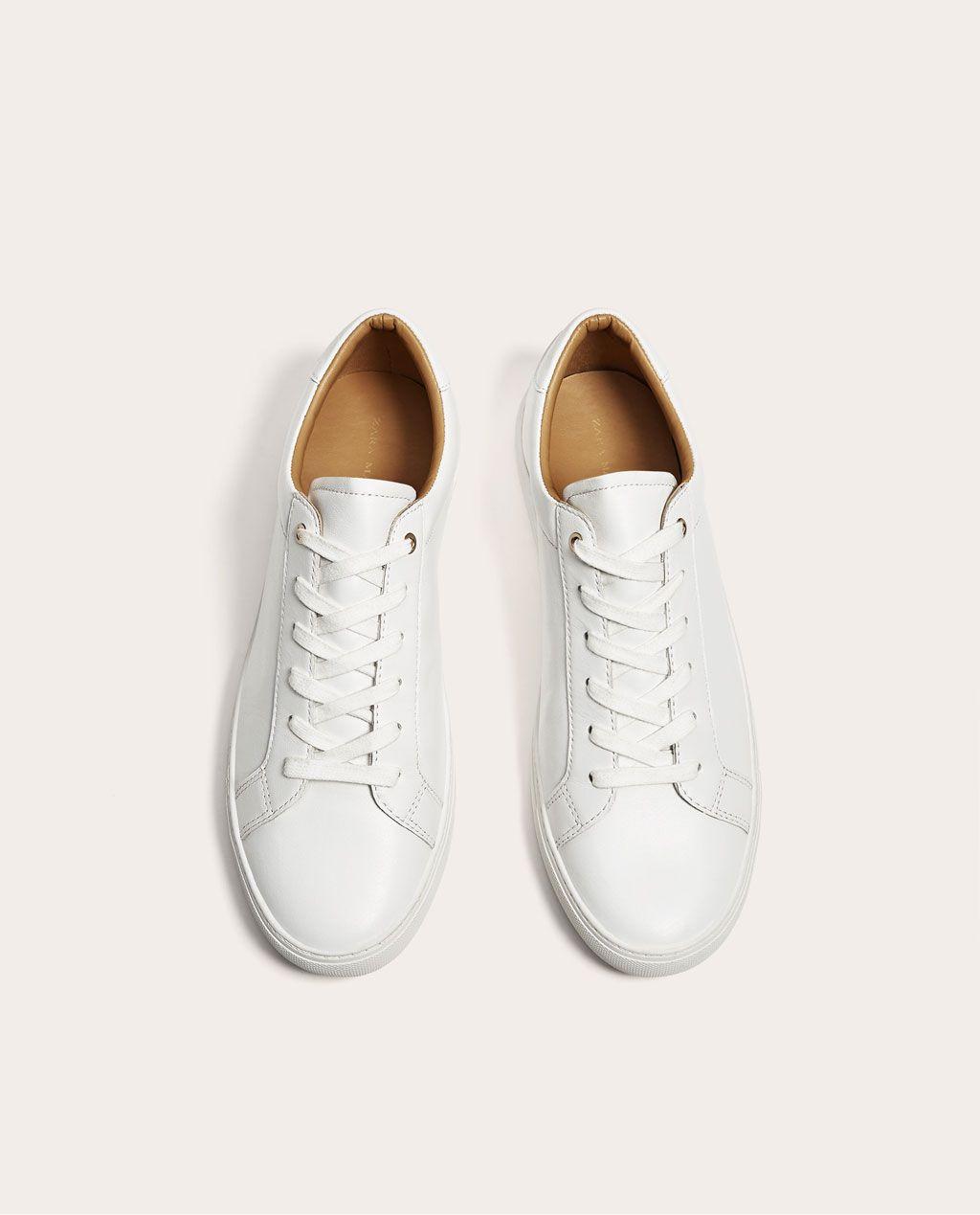 Blanco Zara Nueva Deportivo Piel Colección Colombia Hombre Zapatos 58Fx8fqw