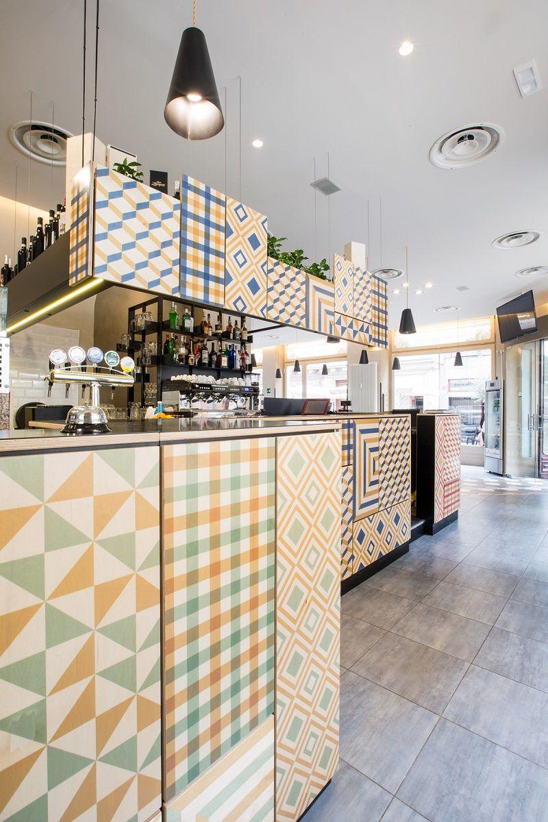 Italian restaurant with a warm retro interior2