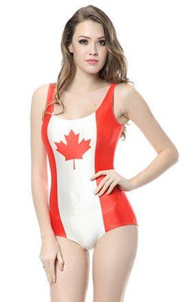 164dd7b6d7523 ... CANADIAN MAPLE LEAF FLAG DIGITAL PRINT SEXY ONE PIECES FOR WOMEN LADY  BEACHWEAR SWIMWEAR GALAXY BATHING SWIMSUIT SKINNY ELASTIC BODYSUIT MONOKINI  BIKINI