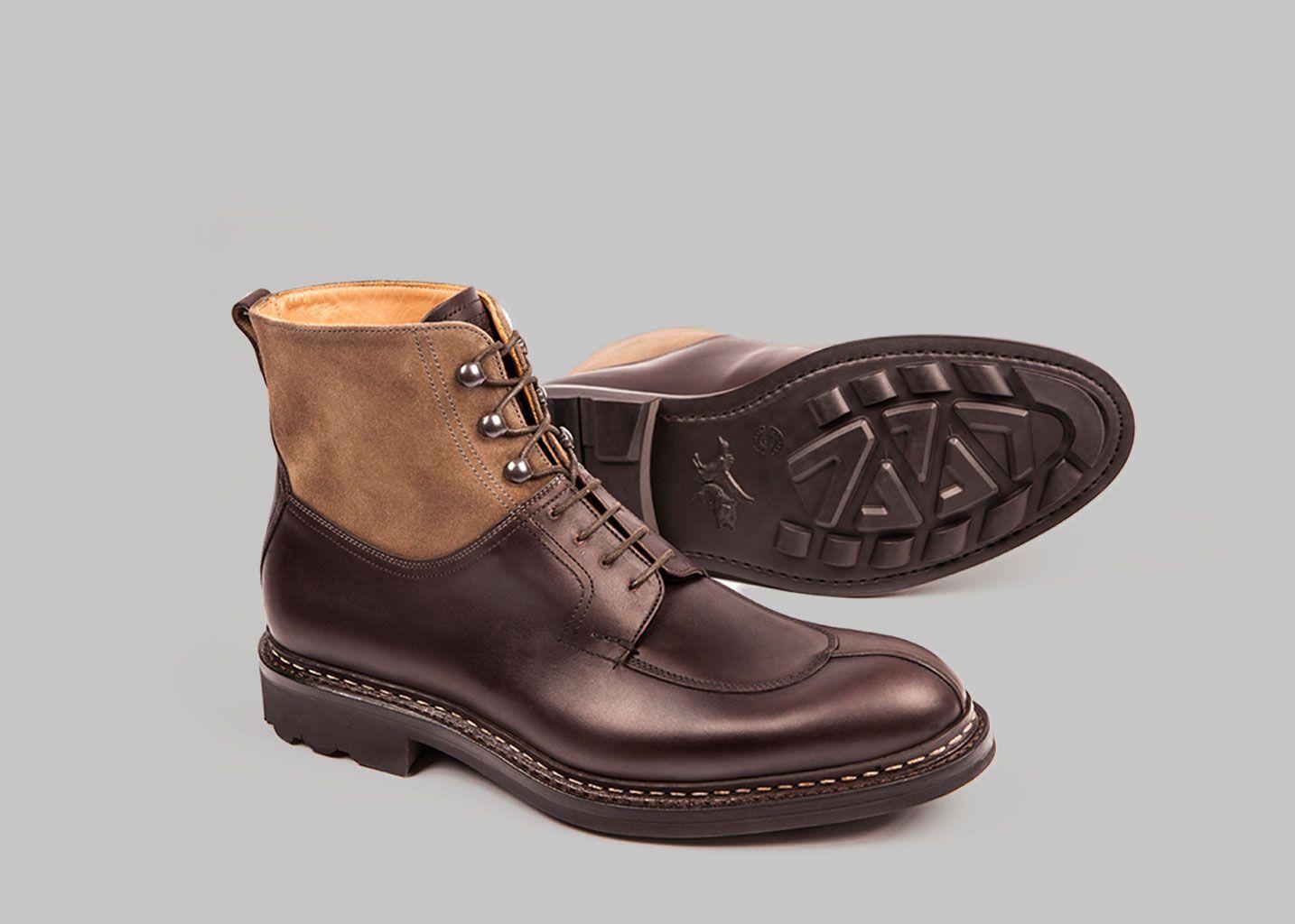 Heschung Homme heschung ginkgo cuir grainé Gris - Chaussures Boot Homme