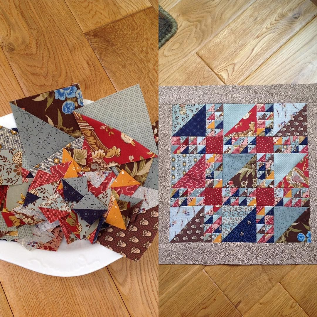 Little Quilt Of Love.From A Bowl Of Triangles To A Little Quilt Makeitmini