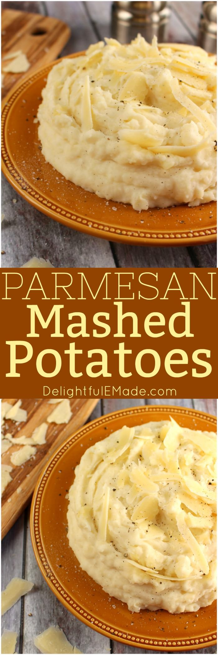These Parmesan Mashed Potatoes Include Sour Cream Cream Cheese And Parmesan Cheese Making Them The U Parmesan Mashed Potatoes Recipes Ultimate Mashed Potatoes