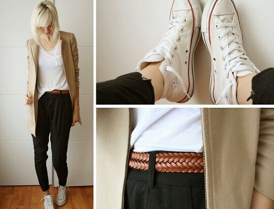 Casual outfit for white converse:: love this look