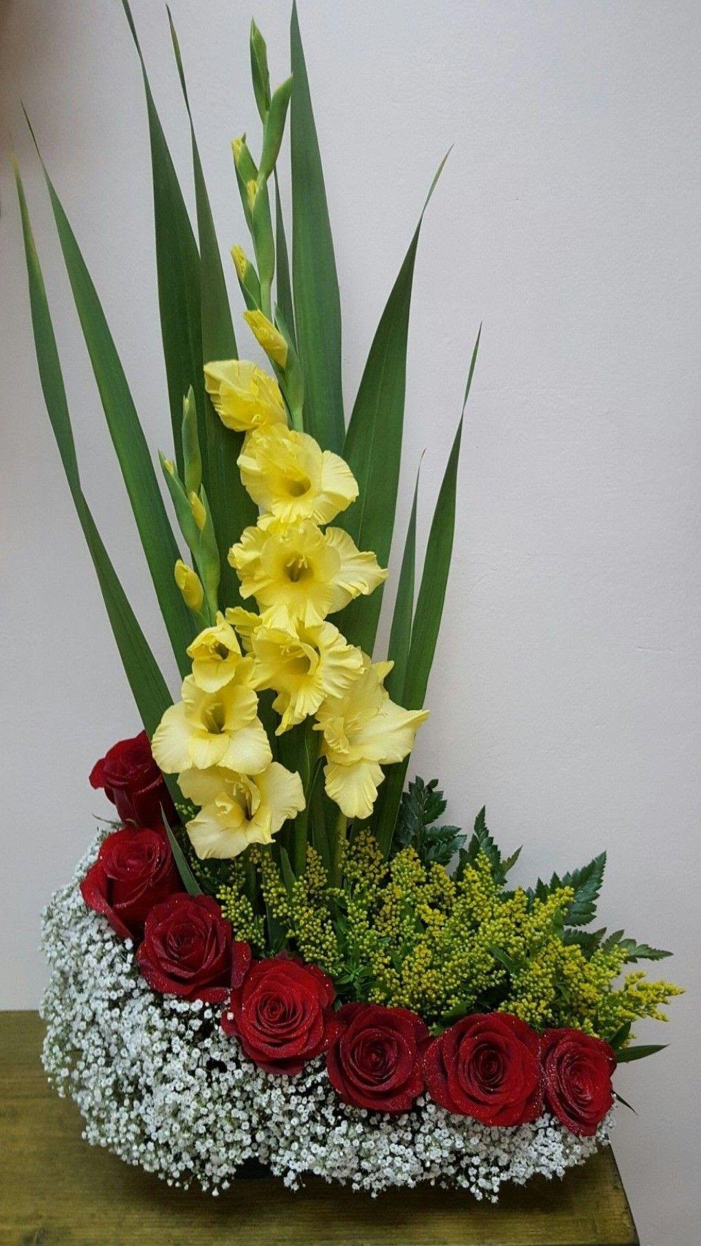 Mis Gladiolos Mi Jardin Arreglos Florales Bellos