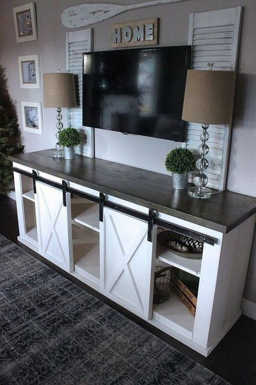 Farmhouse Style TV Console Ideas (With images) | Living ...