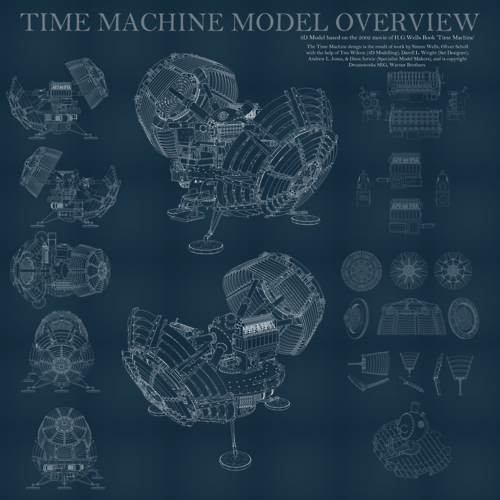 Time Machine Overview (6000X6000px) by `Hameed #Steampunk #Blueprint