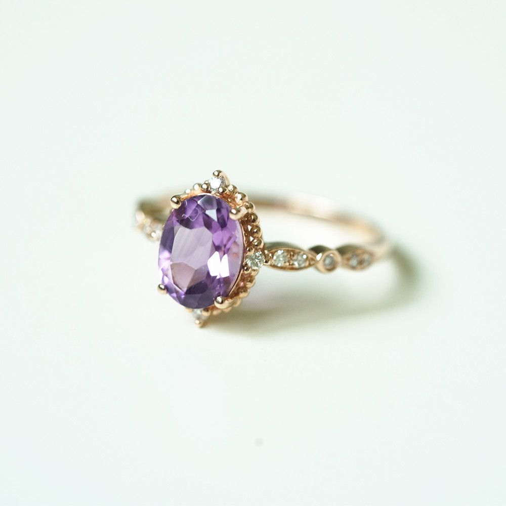 17 Vintage Amethyst Engagement Ring Amethyst Ring Engagement Purple Engagement Rings Amethyst Ring Vintage