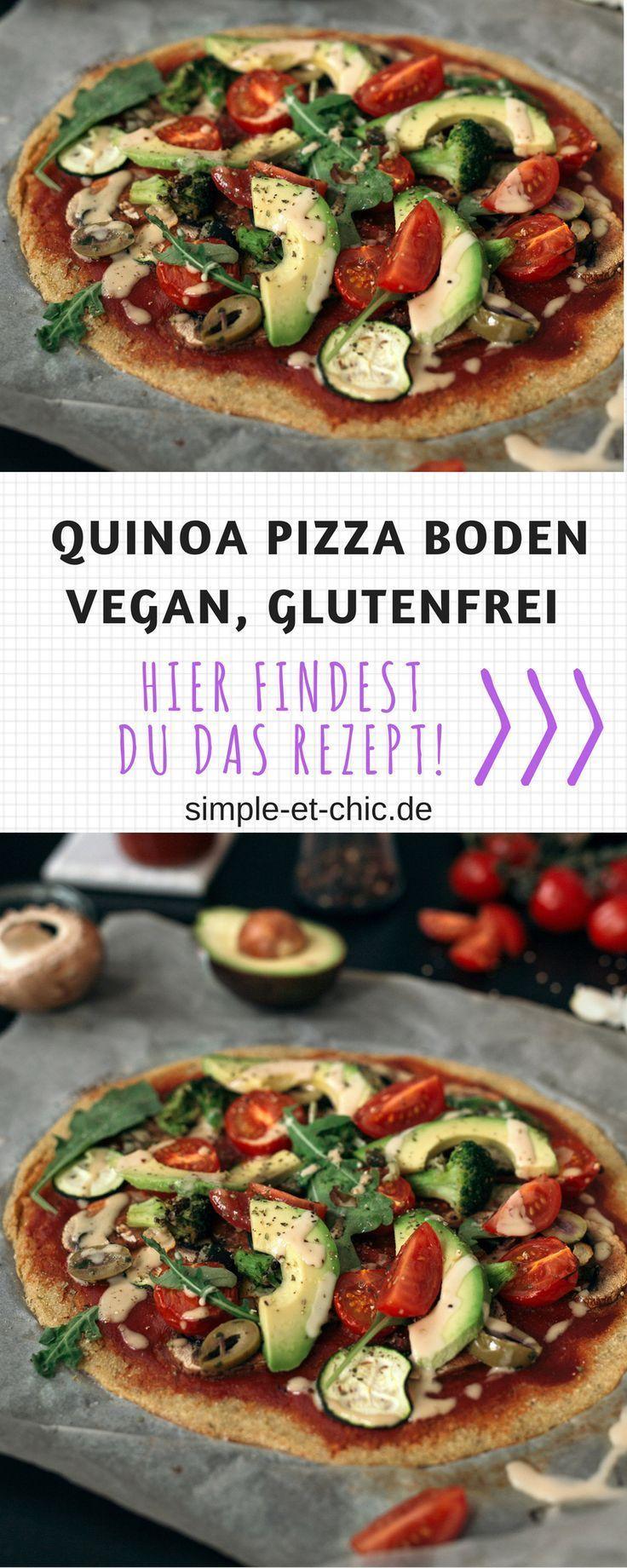 Quinoa Pizzaboden - vegan und glutenfrei,  Quinoa Pizzaboden - vegan und glutenfrei,