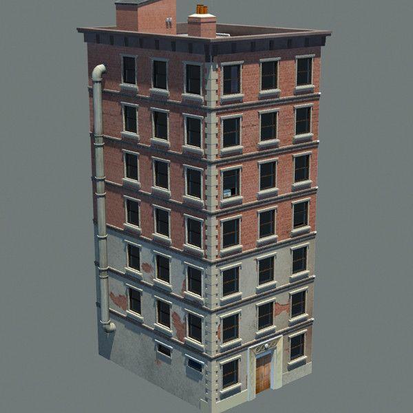 3D Apartment Building New York Model   3D Model