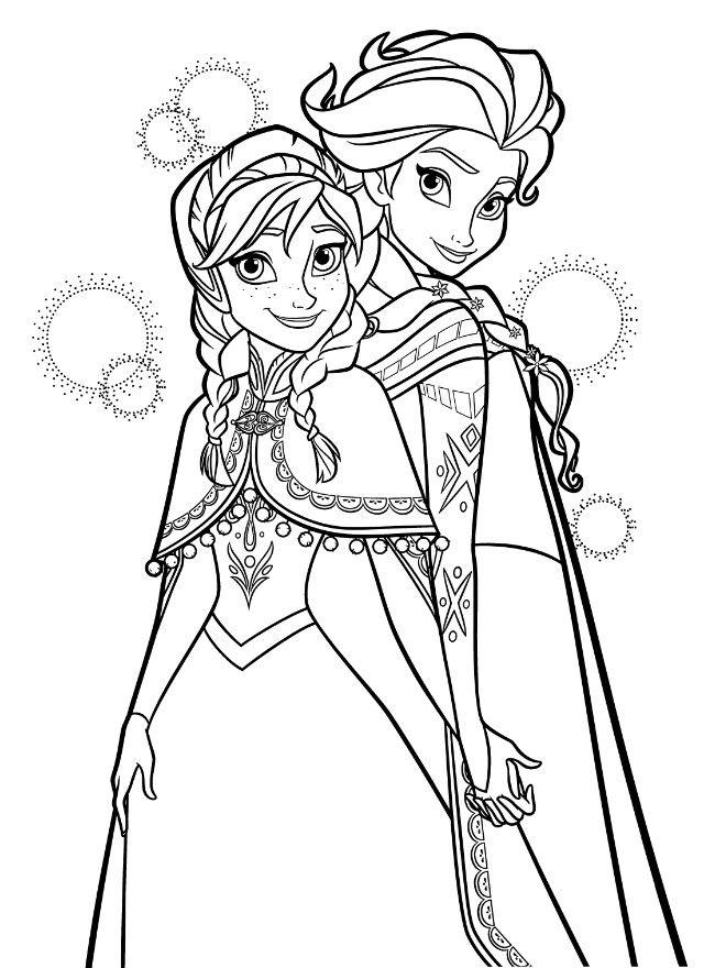 アナと雪の女王frozenぬりえ1 ミツキmaウスの小さな世界 The