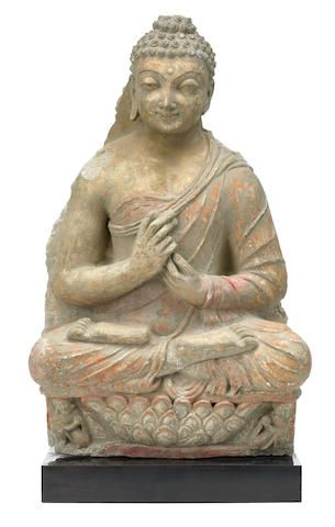 A Stucco Figure Of Vairocana Gandhara Circa 4th Century In 2020 Buddhist Art Buddha Indian Sculpture