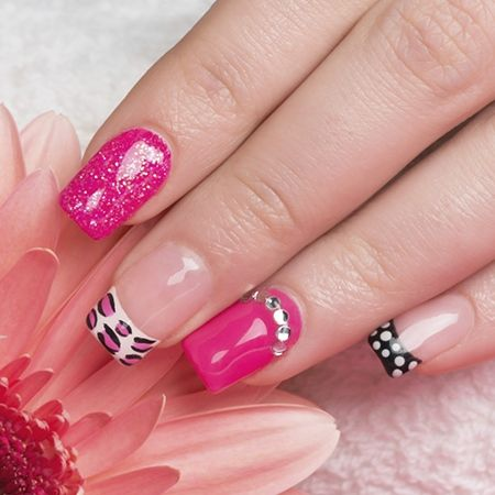 20 amazing pink and black nail design ideas black nail art 20 amazing pink and black nail design ideas prinsesfo Gallery