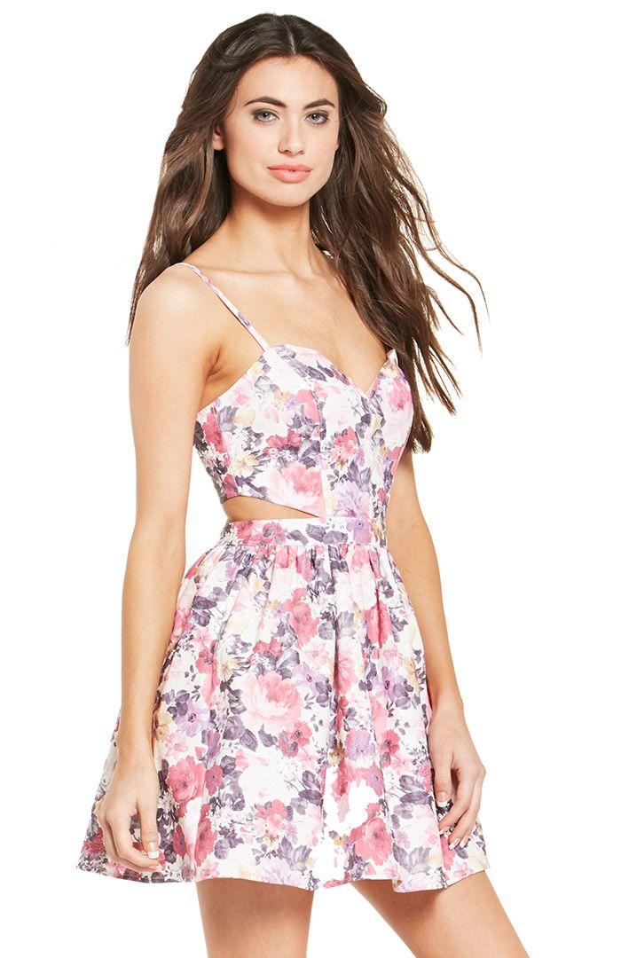 DailyLook: Open Back Floral Dress