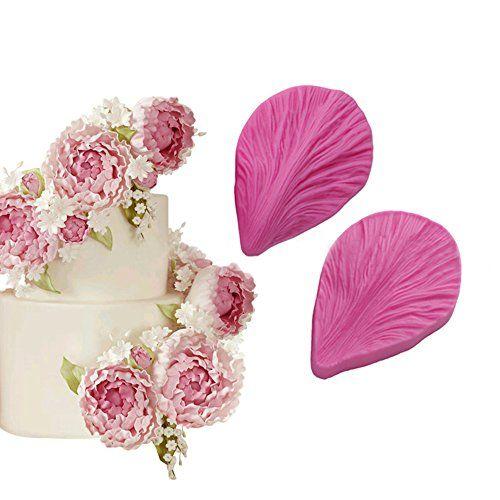 Diy Peony Flower Silicone Molds Wedding Leaves Cupcake Topper Fondant Cake Decor