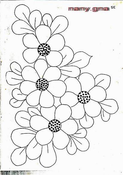 Patrones Flores De Bordados Bordados A Mao Riscos Desenhos