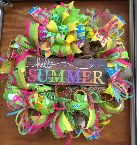 "63381fce34335 Made to order Ships in 3 5 business days Flip flop wreath 24"" 26""x8""  Beautiful colorful flip flop wreath is made on an elevated wire wreath form  with 21"" ..."