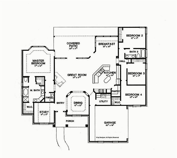 Awesome Ranch Home Plans 2500 Square Feet House Plans One Story Simple House Plans New House Plans