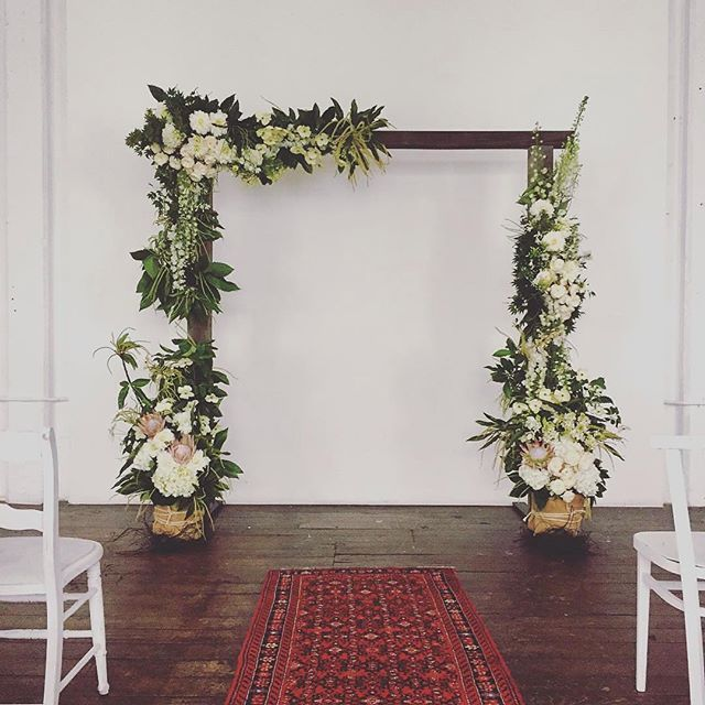 Indoor Wedding Ceremony Brampton: We Just Adore This Floral Arbour Dressed By