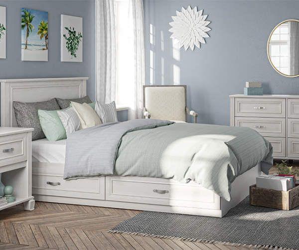Ameriwood White Magnolia Oak Full Headboard Big Lots In 2021 Queen Bedroom Furniture Bedroom Sets Bedroom Collections Furniture