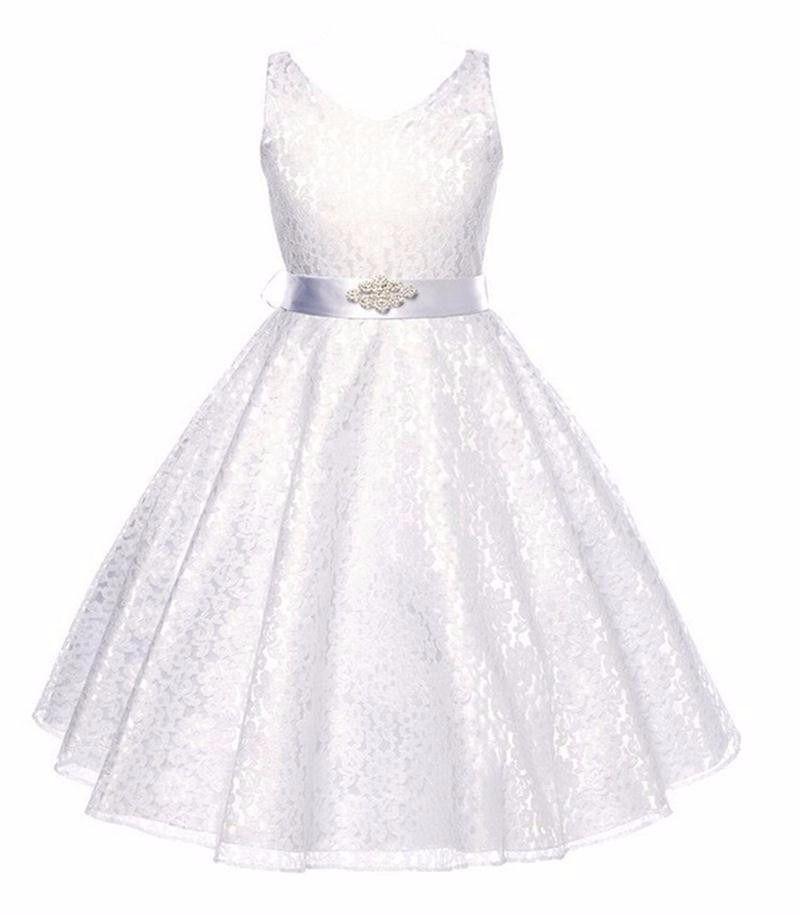 8c939acc4 Vestido Festa Infantil juvenil Renda Casamento Daminha Dama - R  149 ...