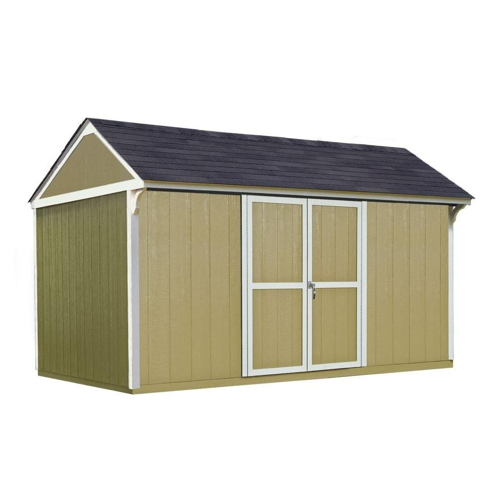 Handy Home Products Majestic 8 Ft X 12 Ft Wood Storage Shed 18631 8 Wood Storage Sheds Wood Storage Shed