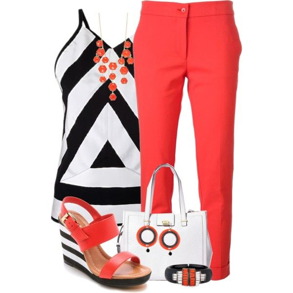Striped top and Sandals by jennifernoriega on Polyvore featuring moda, Kenzo, Etro, Kate Spade, Brooks Brothers, Kensie, Alexis Bittar and Jozica