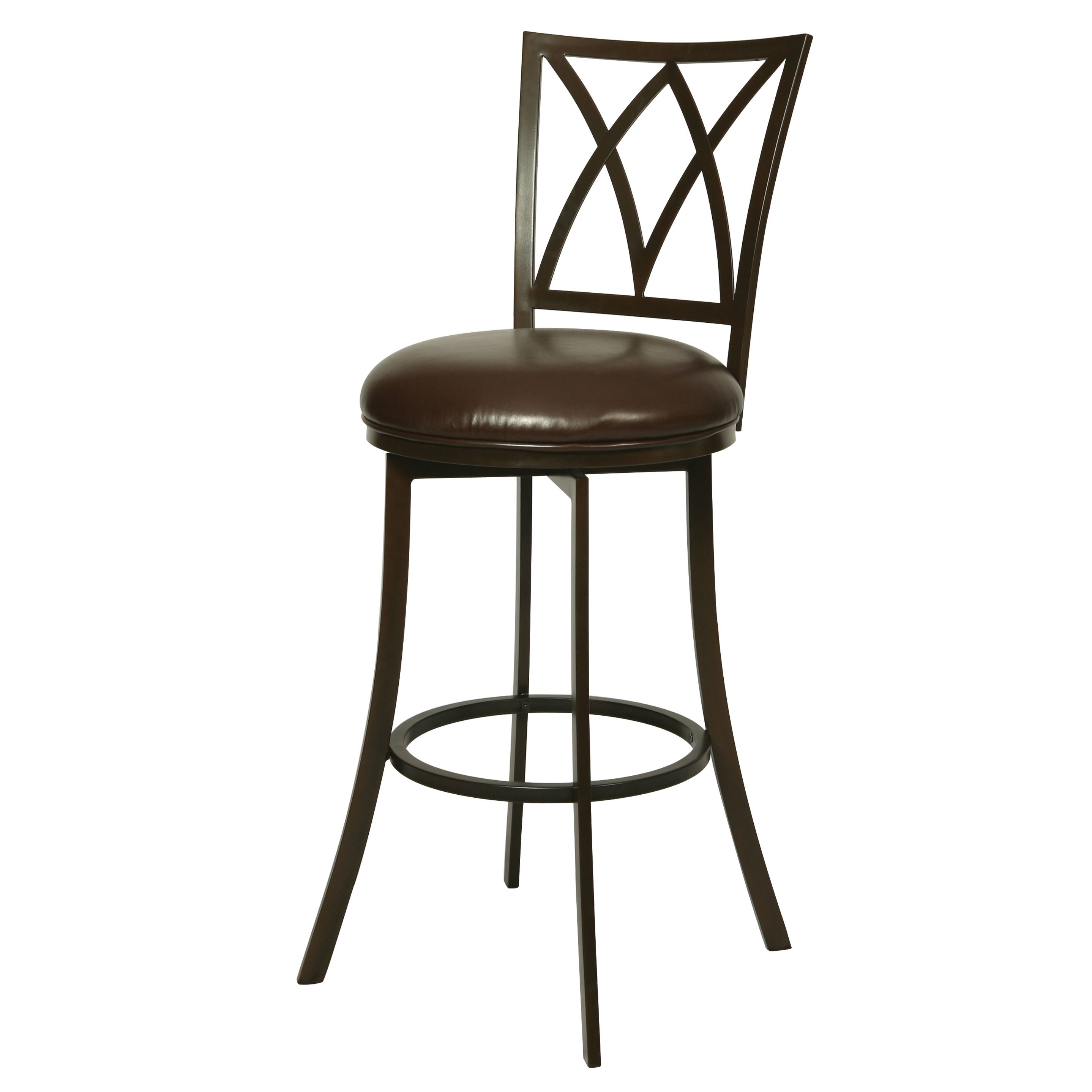 Cool Xenophon Kd Powder Coated Espresso Steel Faux Leather Swivel Theyellowbook Wood Chair Design Ideas Theyellowbookinfo