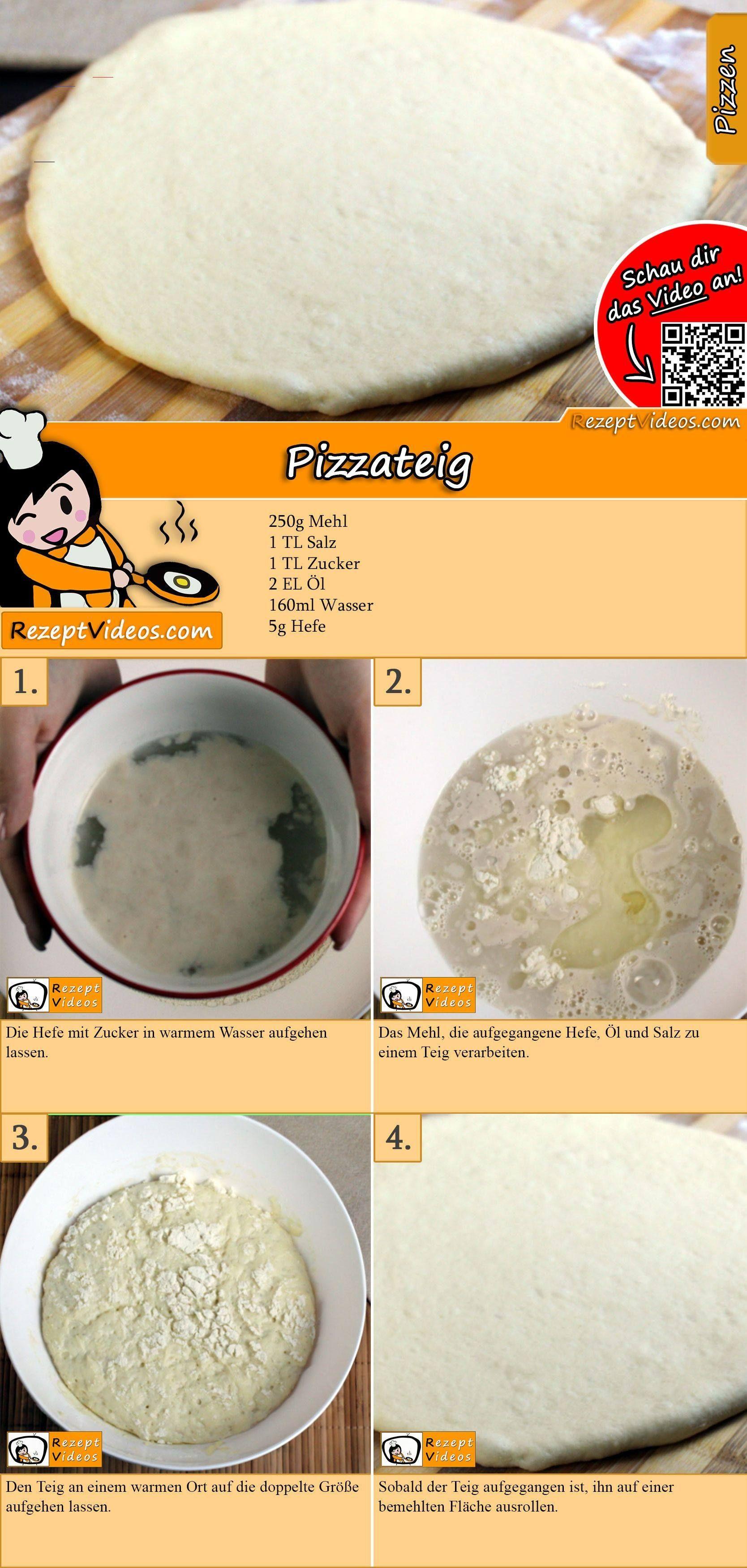 Pizzateig Rezept mit Video   Pizzateig selber machen/ Pizza backen ...