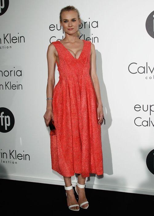 #Diane #Kruger a choisi l'élégance avec cette #robe de la collection #CalvinKlein. Photo: Getty Images