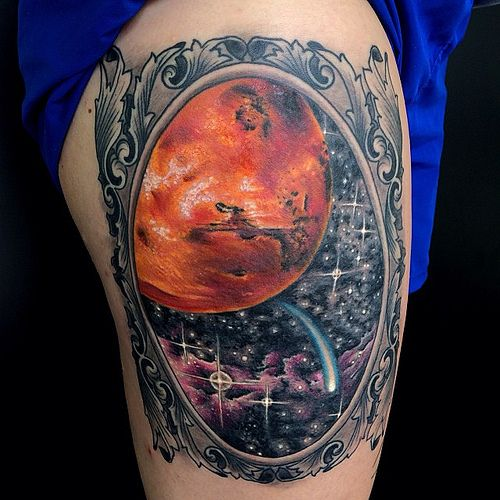 Mars Planet Tattoo