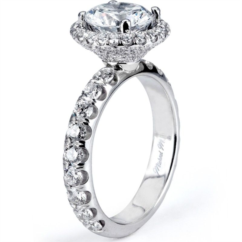 Michael M. Halo Diamond Setting 001-550-00136 | Engagement Rings from Padis Jewelry | San Francisco, CA