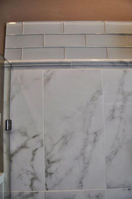 Shower Walls Porcelain Marble Look A Like 12 Quot X24 Quot Tiles