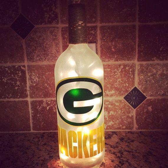 Green Bay Packers Light up Bottle