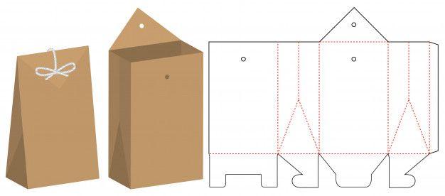 Diseño de plantillas de troquelado de bo  Premium Vector