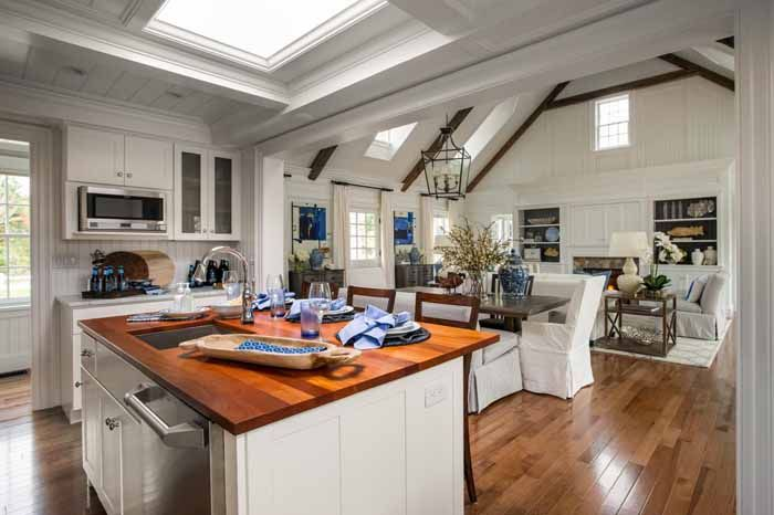 Dream Kitchens 2015 | The Open Floor Plan Of The Home In This View Standing  In