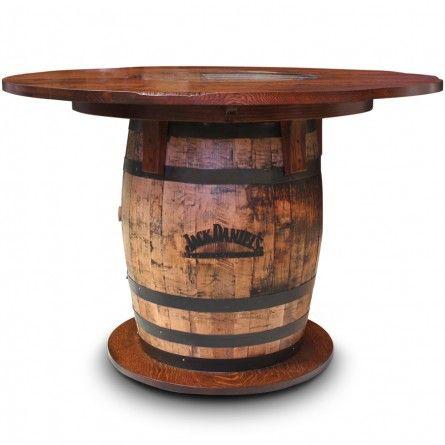GALLERY FURNITURE USA WHISKEY BARREL PUB TABLE