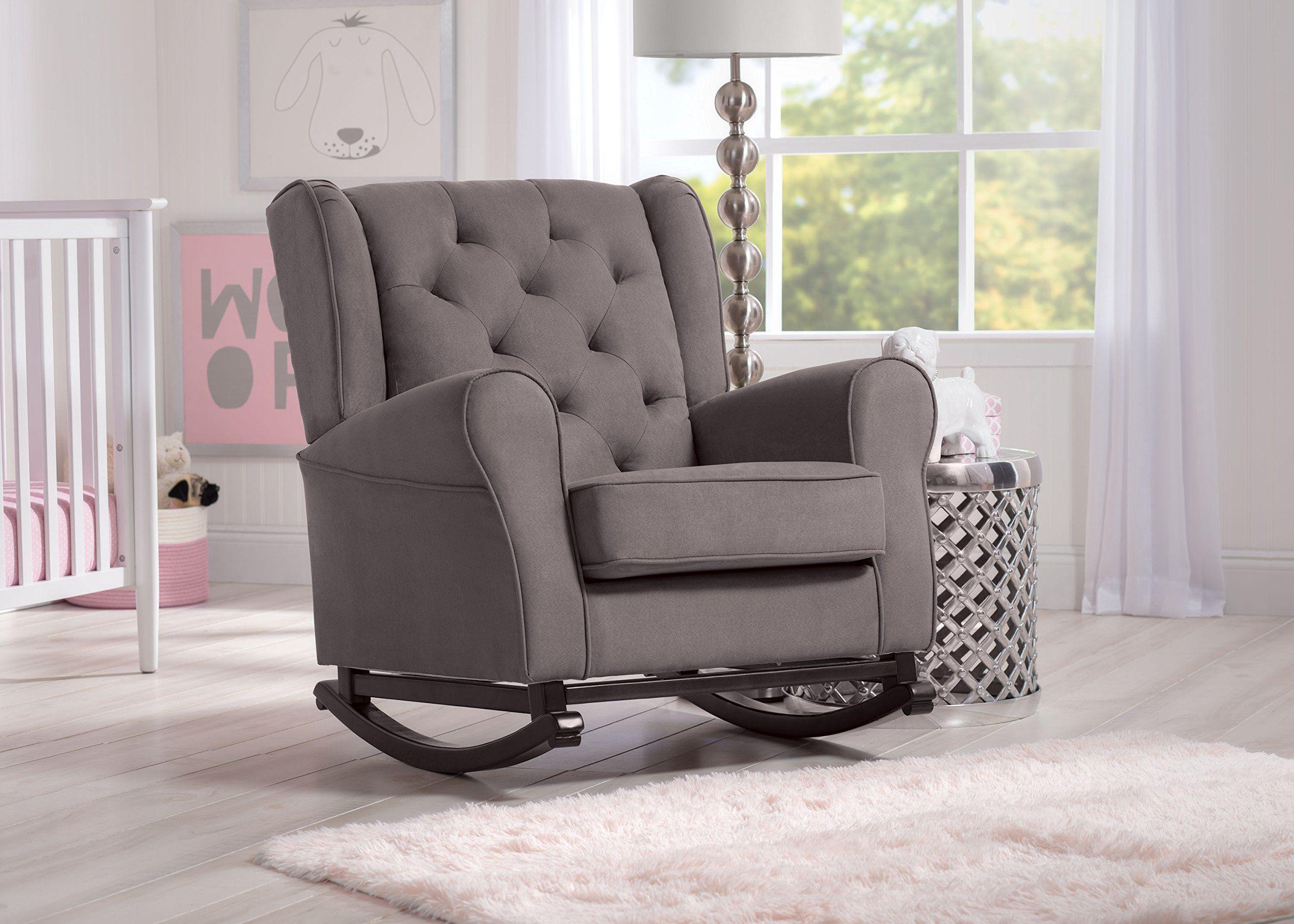 Delta Furniture Emma Upholstered Rocking Chair Graphite
