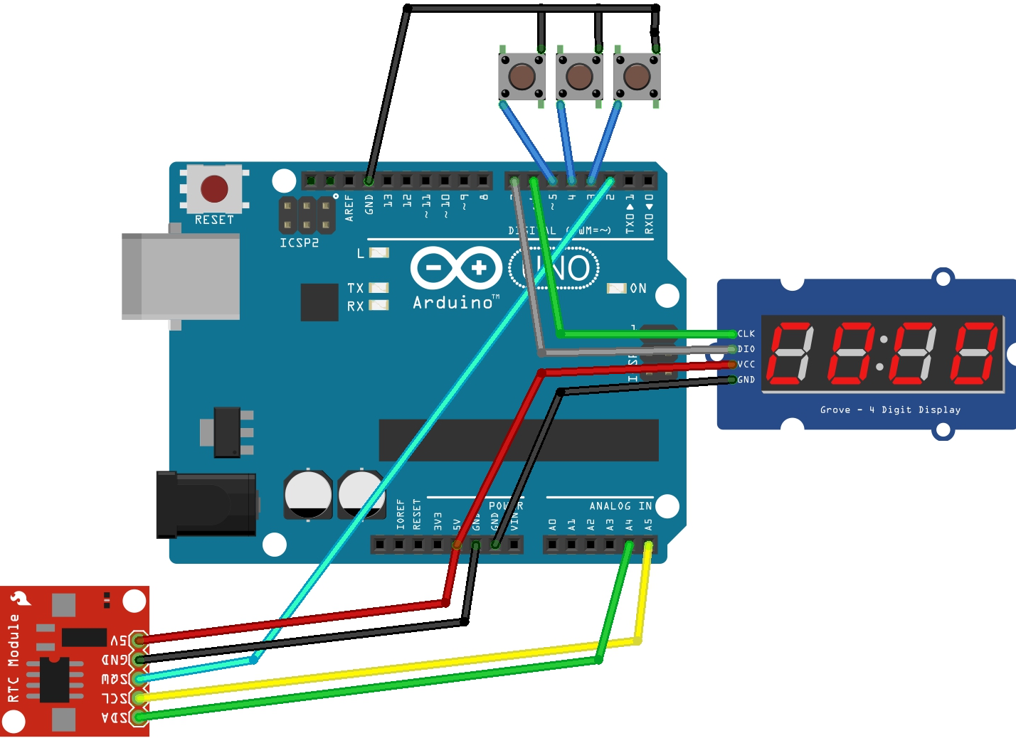 medium resolution of ds3231 real time clock rtc is a low power full binary coded decimal bcd clock calendar the clock can operate in either the 24 hour or 12 hour format